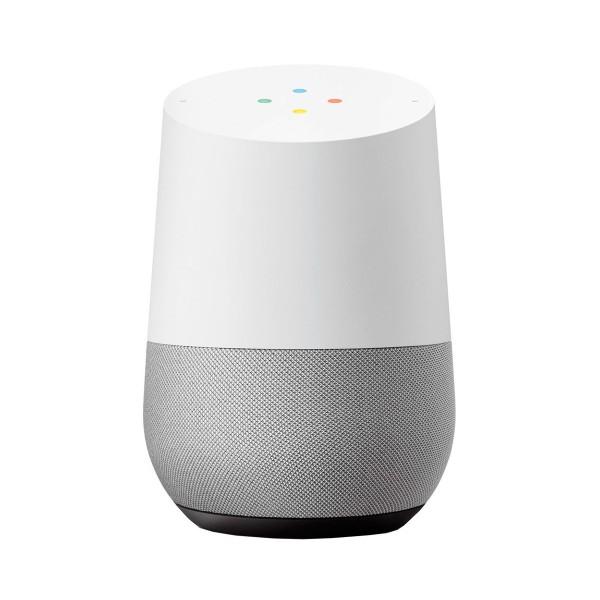 Google Home Altavoz inteligente con asistente Google color blanco tela gris pizarra