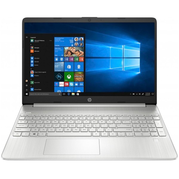 Hp laptop 15s-fq1139 plata portátil 15.6'' hd intel i3-1005g1 256gb ssd 4gb ram windows 10 home