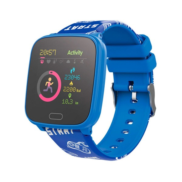 Forever igo jw-100 azul/ smartwatch junior/bluetooth/acelerómetro/frecuencia cardíaca