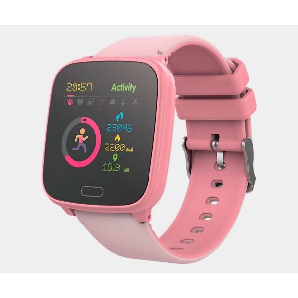 Forever igo jw-100 rosa/ smartwatch junior/bluetooth/acelerómetro/frecuencia cardíaca